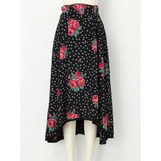 リリーブラウン(Lily Brown)のリリーブラウン 花柄 スカート(ひざ丈スカート)