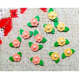 クラフトパンチ】 SALMON PINK・黄色 30枚セット(カード/レター/ラッピング)