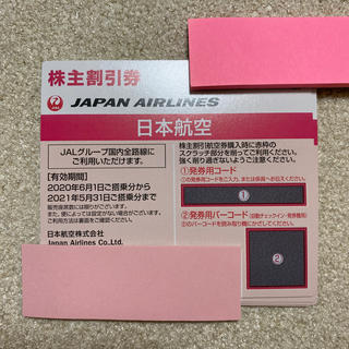 JAL(日本航空) - JAL 株主割引券 2021年5月31日まで 8枚