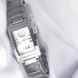 Hermes - 【仕上済】エルメス タンデム シルバー ブレス レディース 腕時計