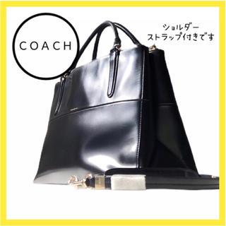 COACH - コーチ バッグ ショルダーバッグ ハンドバッグ トート 黒 A4 2way
