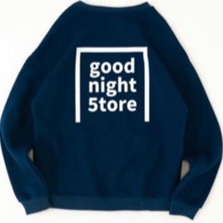 good night 5tore   スウェット ネイビー