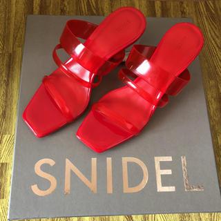 snidel - SNIDEL クリアローヒールサンダル