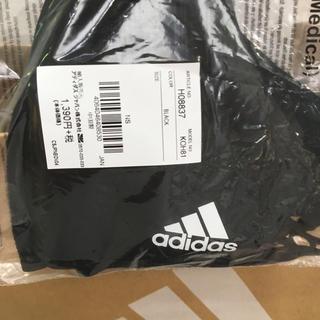 adidas - 未開封 アディダスフェイスマスク Lサイズ ブラック 3枚入り