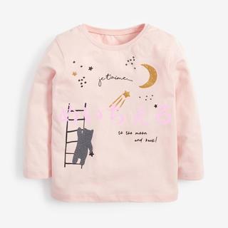 NEXT - 【新品】next ピンク キラキラクマTシャツ(ヤンガー)