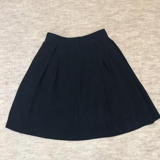 ロディスポット(LODISPOTTO)のロディスポット ひざ丈 シンプル スカート 紺 ネイビー(ひざ丈スカート)