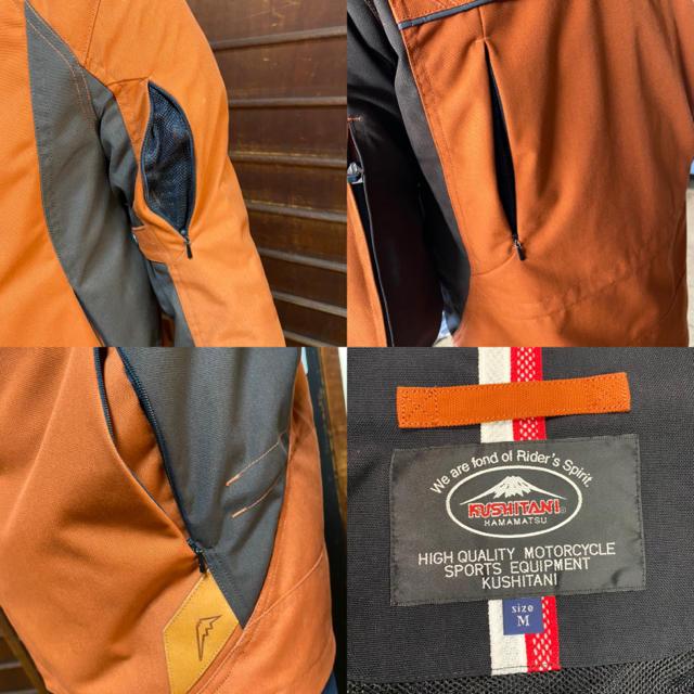 KUSHITANI ジャケット オレンジM プロテクター付き 自動車/バイクのバイク(装備/装具)の商品写真