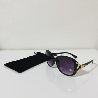 サングラス セレブ 金 ゴールド 紫 パープル 大きめ(サングラス/メガネ)
