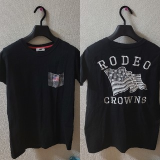RODEO CROWNS WIDE BOWL - 国旗×ギンガムチェックTシャツ