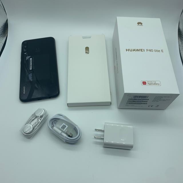 ANDROID(アンドロイド)の2台/HUAWEI P40 lite E(ブラック)国内版SIM フリー スマホ/家電/カメラのスマートフォン/携帯電話(スマートフォン本体)の商品写真