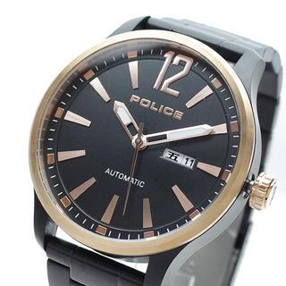 ポリス(POLICE)のPOLICE 腕時計 メンズ プロトコル PROTOCOL 自動巻き ブラック(腕時計(アナログ))