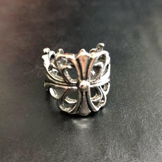 フィアオブゴッド(FEAR OF GOD)の◉セール◉ フローラル クロスリング ステンレス 指輪 メンズ(リング(指輪))