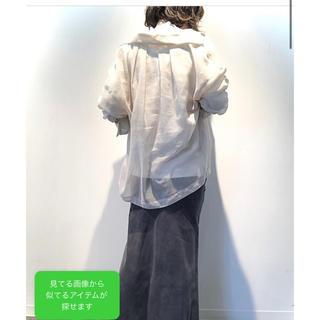ビューティアンドユースユナイテッドアローズ(BEAUTY&YOUTH UNITED ARROWS)のBY ヴィンテージライクキュプラタイトマキシスカート(ロングスカート)