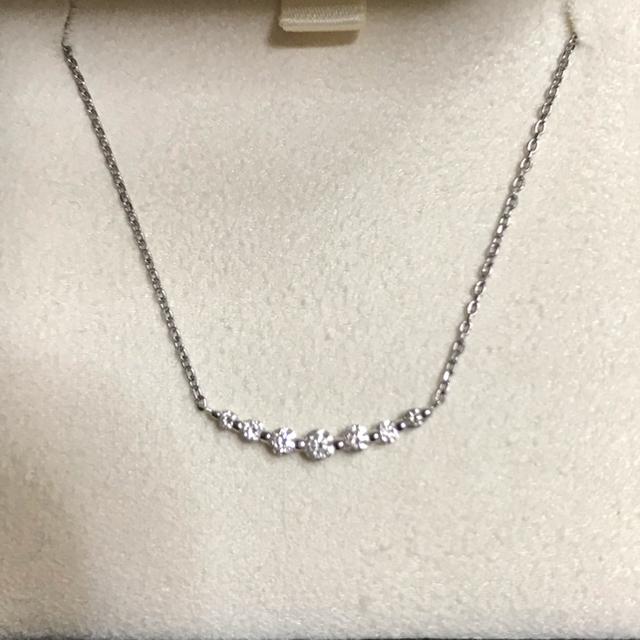 Vendome Aoyama(ヴァンドームアオヤマ)のヴァンドーム青山 プラチナ ダイヤモンド リュール ネックレス レディースのアクセサリー(ネックレス)の商品写真