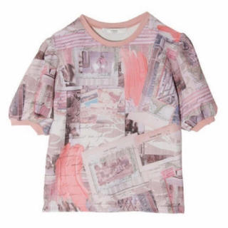 eimy istoire - エイミーイストワール eimy Paris art パフスリーブTシャツ ピンク