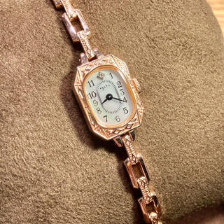agete - agete アガット 腕時計 ピンクゴールド ブレスレット アンティーク