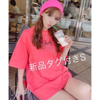 レディー(Rady)の新品タグ付き rady ロゴTシャツ コーラルピンク S(Tシャツ(半袖/袖なし))