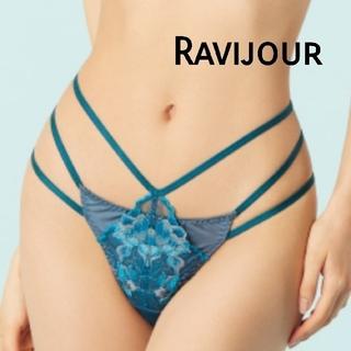 Ravijour - 【新品】Ravijour フローラコード ショーツ Sサイズ ダークブルー