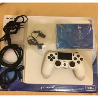 PlayStation4 - 【最新型イヤホン未使用】PS4 CUH-2200A 500GB ホワイト 本体