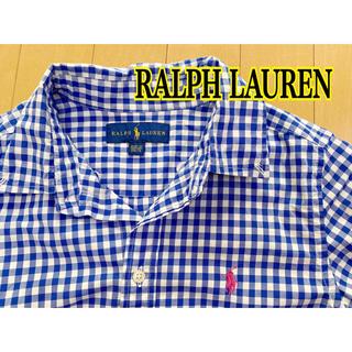 ラルフローレン(Ralph Lauren)のキッズ ラルフローレン チェックシャツ M(シャツ/ブラウス(長袖/七分))
