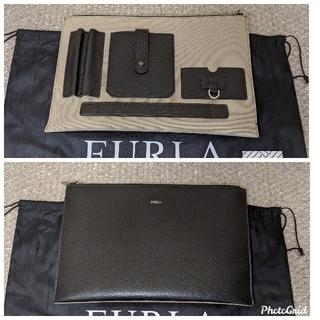 フルラ(Furla)のフルラ メンズ man クラッチバッグ セカンドバッグ レザー 黒 切り替え(セカンドバッグ/クラッチバッグ)