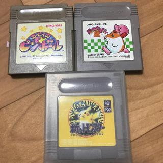 ゲームボーイソフト カービィのピンボール 星のカービィ2 ポケモンイエロー(携帯用ゲームソフト)