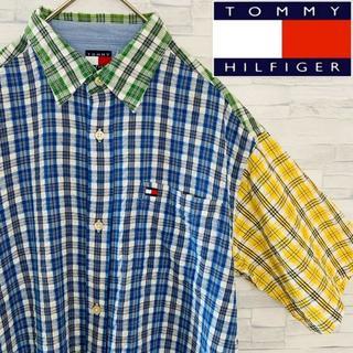 トミーヒルフィガー(TOMMY HILFIGER)の古着 カジュアル 半袖シャツ TOMMY HILFIGER レディース L(シャツ/ブラウス(半袖/袖なし))