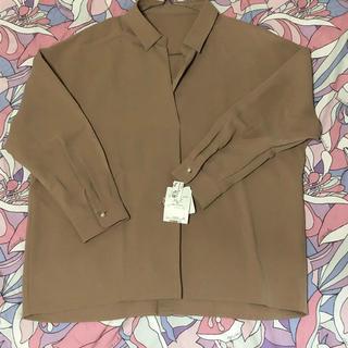 ヴィス(ViS)のViS ビス 袖パール付きスキッパーシャツ(シャツ/ブラウス(長袖/七分))