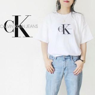 Calvin Klein - 【90s・USA製】Calvin Klein Jeans BIGロゴTシャツ 白