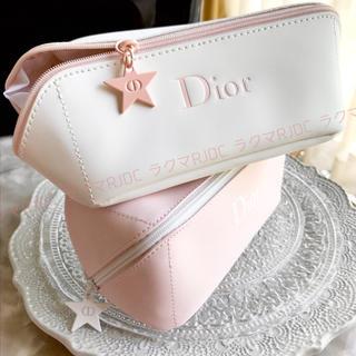 Dior - 【2色お揃いで♡新品未使用】ディオール 化粧ポーチ やわらかポーチ ベビーピンク