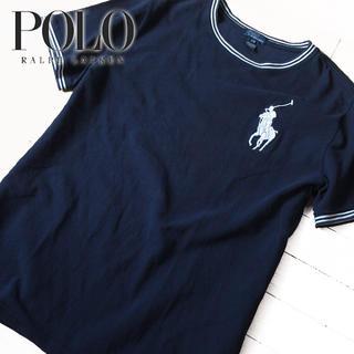 POLO RALPH LAUREN - 美品 170(L位) ポロバイラルフローレン メンズ 半袖カットソー ネイビー