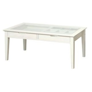 コレクションテーブル ホワイ(ローテーブル)