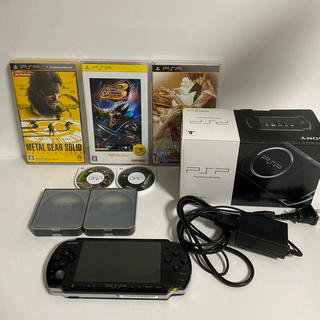 PlayStation Portable - PSP 本体 3000 ソフト5本セット
