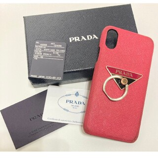 PRADA - 【中古】プラダ iPhoneXケース ピンク