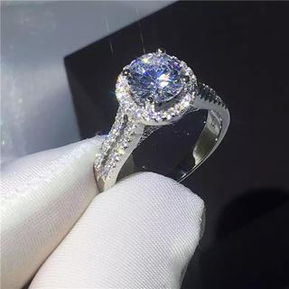 【高品質】czダイヤモンド 上品リング(リング(指輪))