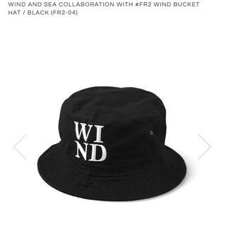 黒 WIND AND SEA #FR2 BUCKET HAT FR2-04(ハット)