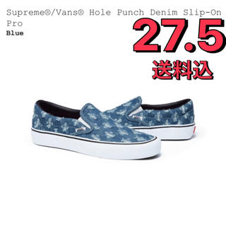Supreme - supreme × vans Hole Punch Denim Slip-On