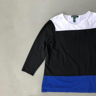 ラルフローレン(Ralph Lauren)のラルフローレンTシャツ LAUREN レディース ブラウス バイカラー 90S(シャツ/ブラウス(長袖/七分))