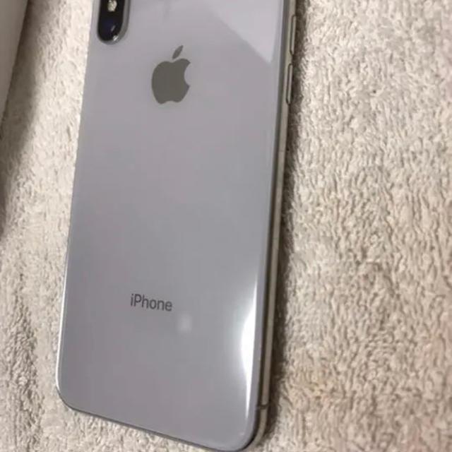 Apple(アップル)のiPhoneX  64GB. docomo スマホ/家電/カメラのスマートフォン/携帯電話(スマートフォン本体)の商品写真