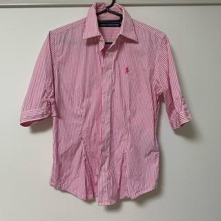 ラルフローレン(Ralph Lauren)のラルフローレンスポーツ ストライプシャツ ピンク(シャツ/ブラウス(長袖/七分))