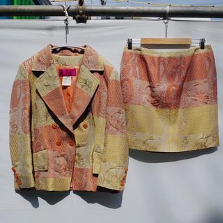 クリスチャンラクロワ(Christian Lacroix)の90's Vintage Jacquard mulchcolor set up(スーツ)