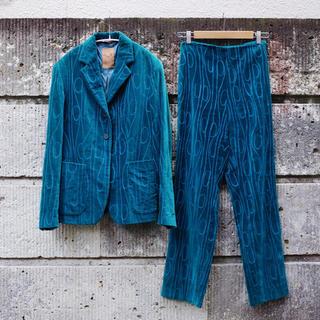 ROMEO GIGLI - 90's Vintage Velvet pantsuit by GIGLI