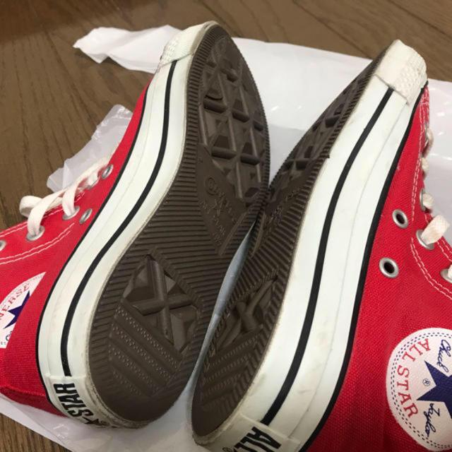 CONVERSE(コンバース)のコンバースconverseハイカットスニーカー赤 レディースの靴/シューズ(スニーカー)の商品写真