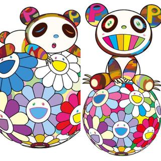 村上隆 新作 版画セット お花の玉の上でパンダの子供(版画)