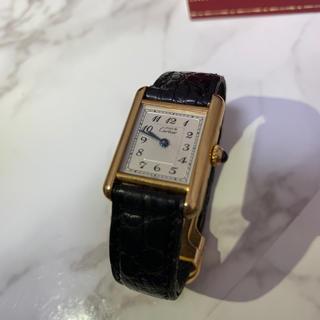 カルティエ(Cartier)のカルティエ マストタンク アラビア LM Cartier(腕時計)