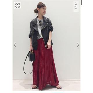 L'Appartement DEUXIEME CLASSE - アパルトモン Col Pierrot プリーツスカート 赤