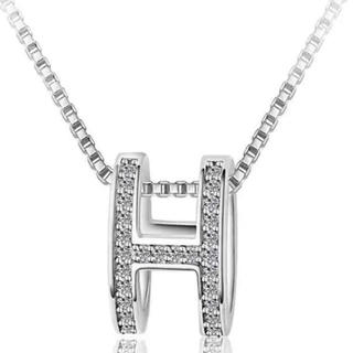 HARRY WINSTON - 【最高級】 H ロゴ モチーフ ジルコニア シルバー925 CZダイヤ  有名人