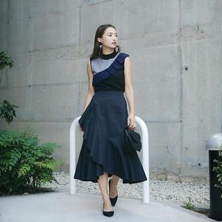 リエンダ(rienda)のレオリー♡アシンメトリーラッフルスカート(ひざ丈スカート)