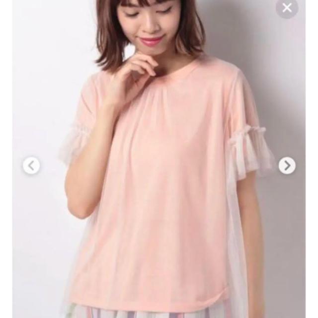 ZARA(ザラ)の新品⭐️チュール重ね着風が可愛い(๑˃̵ᴗ˂̵)✨‼️❤️LHELBIE❤️ レディースのトップス(シャツ/ブラウス(半袖/袖なし))の商品写真