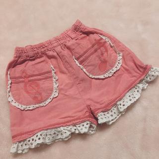シャーリーテンプル(Shirley Temple)のシャーリーテンプル 80cm ピンク ショートパンツ ピンク 音符 ト音記号(パンツ)